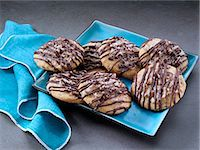 German chocolate cookies Stock Photo - Premium Rights-Managednull, Code: 824-07586362