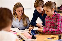 High school students studying together in classroom Stock Photo - Premium Royalty-Freenull, Code: 698-07588233