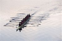 sport rowing teamwork - Rowing team rowing scull on lake Stock Photo - Premium Royalty-Freenull, Code: 6113-07588713