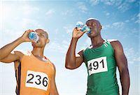 runner (male) - Runners drinking water on track Stock Photo - Premium Royalty-Freenull, Code: 6113-07588776