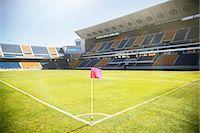 Empty soccer field and stadium Stock Photo - Premium Royalty-Freenull, Code: 6113-07588821