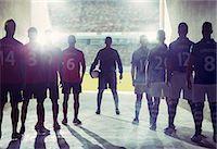 footballeur - Silhouette of soccer teams facing field Stock Photo - Premium Royalty-Freenull, Code: 6113-07588834