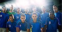 football team - Soccer team standing in stadium Stock Photo - Premium Royalty-Freenull, Code: 6113-07588850