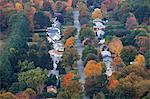 Autumn trees among suburban neighborhood Stock Photo - Premium Royalty-Freenull, Code: 6113-07589310