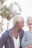 fitness   mature woman - Senior women laughing Stock Photo - Premium Royalty-Freenull, Code: 6113-07589322