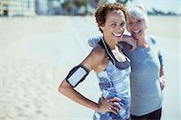 Portrait of smiling women in sportswear outdoors Stock Photo - Premium Royalty-Freenull, Code: 6113-07589389