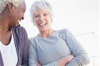 fitness   mature woman - Senior women laughing outdoors Stock Photo - Premium Royalty-Freenull, Code: 6113-07589437