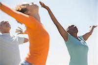 fit people - Seniors practicing yoga outdoors Stock Photo - Premium Royalty-Freenull, Code: 6113-07589460