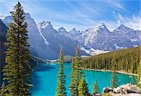 Moraine Lake in the Valley of the Ten Peaks, Banff National Park, UNESCO World Heritage Site, Alberta, Canadian Rockies, Canada, North America Stock Photo - Premium Rights-Managednull, Code: 841-07590042