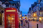East Gate and telephone box at Christmas, Chester, Cheshire, England, United Kingdom, Europe Stock Photo - Premium Rights-Managed, Artist: Robert Harding Images, Code: 841-07590521