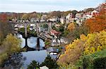 Viaduct over the River Nidd at Knaresborough, in autumn, North Yorkshire, Yorkshire, England, United Kingdom, Europe Stock Photo - Premium Rights-Managed, Artist: Robert Harding Images, Code: 841-07590527
