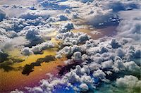 refraction - Cloudscape viewed from above, an aerial view over the North Atlantic Ocean Stock Photo - Premium Rights-Managednull, Code: 878-07590689