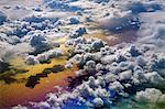 Cloudscape viewed from above, an aerial view over the North Atlantic Ocean Stock Photo - Premium Rights-Managed, Artist: Mint Images, Code: 878-07590689