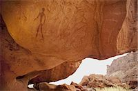 Human figure, rock painting, Twyfelfontein World Heritage Site, Uibasen Conservancy, Damaraland, Namibia Stock Photo - Premium Rights-Managed, Artist: Mint Images, Code: 878-07590893