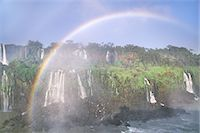 refraction - Rainbow over waterfalls, Iguacu National Park, Brazil Stock Photo - Premium Rights-Managednull, Code: 878-07591148
