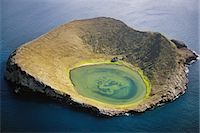 Volcanic crater (aerial), Isabela Island, Galapagos Islands Stock Photo - Premium Rights-Managednull, Code: 878-07591236