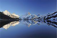 scenic view - Lake Bachalpsee Stock Photo - Premium Royalty-Freenull, Code: 6106-07593614