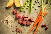 Raw Cubed Beef with Assorted Ingredeints Stock Photo - Premium Royalty-Freenull, Code: 659-07597689