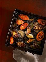 Roasted vegetables Stock Photo - Premium Royalty-Freenull, Code: 659-07598344