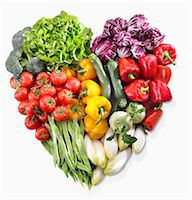 A heart made of vegetables and lettuce Stock Photo - Premium Royalty-Freenull, Code: 659-07599290