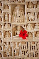 White marble religious icon carvings at The Ranakpur Jain Temple at Desuri Tehsil in Pali District of Rajasthan, India Stock Photo - Premium Rights-Managednull, Code: 841-07600117