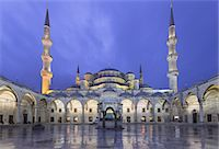 The Blue Mosque or Sultan Ahmed Mosque in Turkish Stock Photo - Premium Royalty-Freenull, Code: 6106-07602236