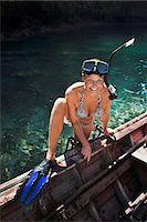 Diving woman, Thailand Stock Photo - Premium Royalty-Freenull, Code: 6102-07602789