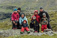Parents with children posing, Kebnekaise, Lapland, Sweden Stock Photo - Premium Royalty-Freenull, Code: 6102-07602891