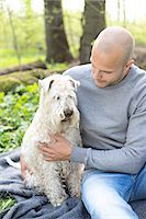 dogs in nature - Man with dog, Sweden Stock Photo - Premium Royalty-Freenull, Code: 6102-07602942