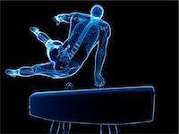 spinal column - Gymnast, computer artwork. Stock Photo - Premium Royalty-Freenull, Code: 679-07603268