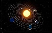 Solar system, computer artwork. Stock Photo - Premium Royalty-Freenull, Code: 679-07603292