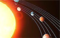 Solar system, computer artwork. Stock Photo - Premium Royalty-Freenull, Code: 679-07603294