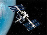International Space Station (ISS), computer artwork. Stock Photo - Premium Royalty-Freenull, Code: 679-07604081