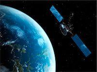 Satellite, computer artwork. Stock Photo - Premium Royalty-Freenull, Code: 679-07604315