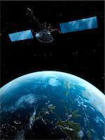 Satellite, computer artwork. Stock Photo - Premium Royalty-Freenull, Code: 679-07604316