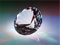 refraction - Diamond refracting light. Stock Photo - Premium Royalty-Freenull, Code: 679-07607676
