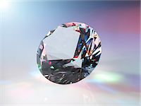 refraction - Diamond refracting light. Stock Photo - Premium Royalty-Freenull, Code: 679-07607677