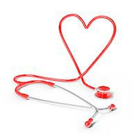 Stethoscope in the shape of heart, studio shot. Stock Photo - Premium Royalty-Freenull, Code: 679-07607992