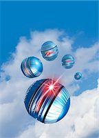 spaceship - Artwork of nano spy drones in the sky. Stock Photo - Premium Royalty-Freenull, Code: 679-07608156