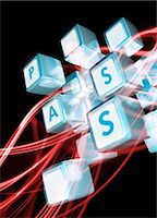 Online data security, conceptual artwork. Stock Photo - Premium Royalty-Freenull, Code: 679-07608162