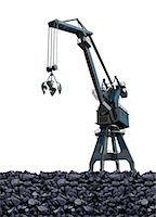 Artwork of coal mining. Stock Photo - Premium Royalty-Freenull, Code: 679-07608168