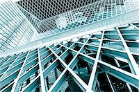 Glass and steel building, abstract. Stock Photo - Premium Royalty-Freenull, Code: 679-07608213