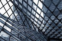 Glass and steel building, abstract. Stock Photo - Premium Royalty-Freenull, Code: 679-07608214