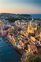Vertical View of Marina Corricella, Procida, Gulf of Naples, Campania, Italy. Stock Photo - Premium Rights-Managednull, Code: 700-07608365