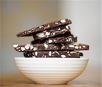 Chocolate nut brittle, stacked Stock Photo - Premium Royalty-Freenull, Code: 659-07609607