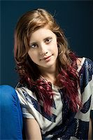 studio fashion portrait of young beautiful girl with nice eyes Stock Photo - Royalty-Freenull, Code: 400-07621059