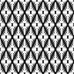Design seamless monochrome geometric diamond pattern. Abstract trellis textured background. Vector art