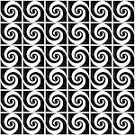 Design seamless monochrome spiral movement decorative pattern. Abstract whirl background. Vector art