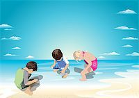 Fun to pee in the water Stock Photo - Royalty-Freenull, Code: 400-07629139