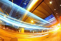 hong kong modern city High speed traffic and blurred light trails Stock Photo - Royalty-Freenull, Code: 400-07630736